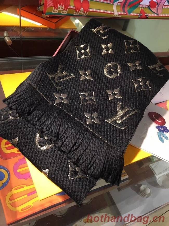 Louis Vuitton Cashmere Scarf LV3306A black