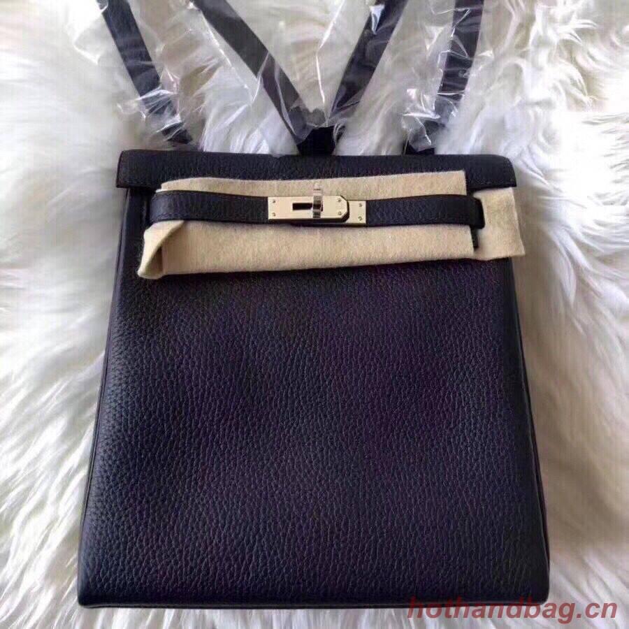 Hermes Kelly Ado Backpack H2398 Black