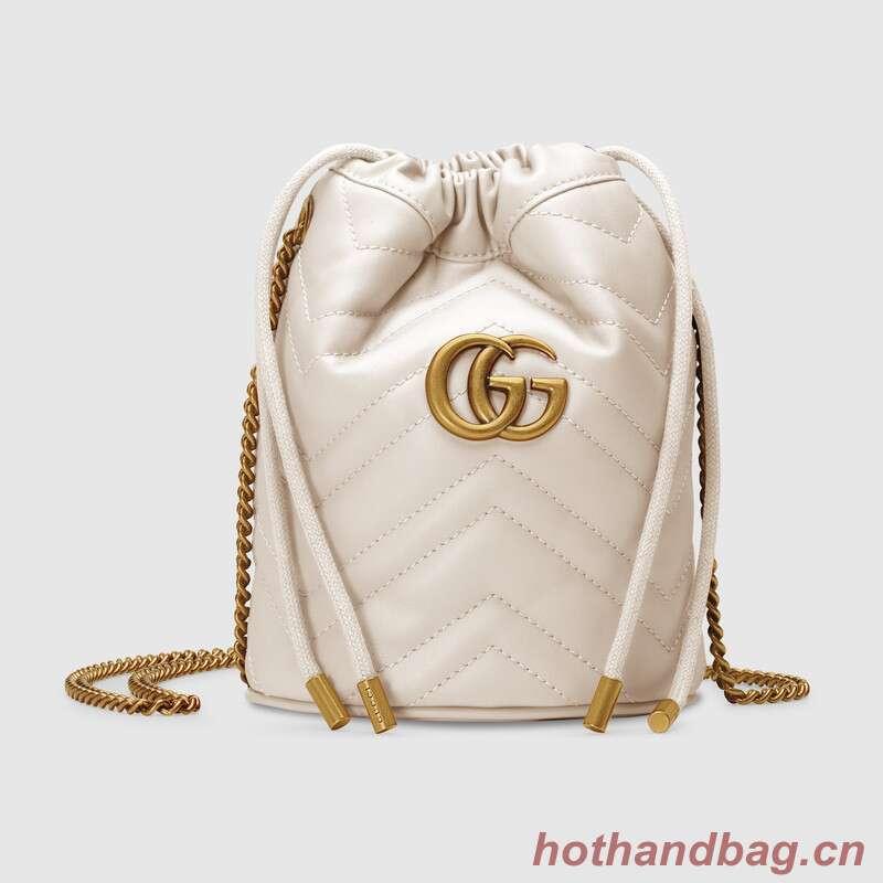 Gucci GG Marmont mini bucket bag 575163 White