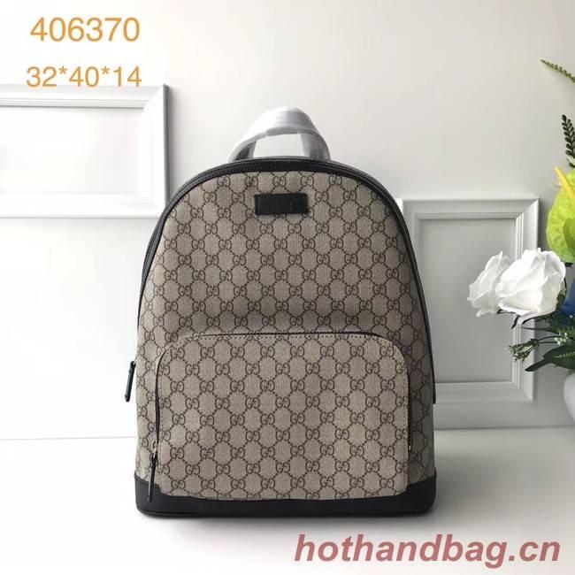 Gucci GG Supreme backpack 406370 Black
