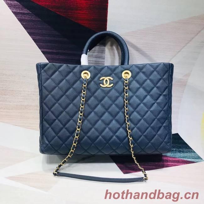 Chanel Original large shopping bag Grained Calfskin A93525 blue
