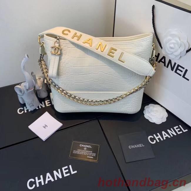 Chanel gabrielle hobo bag A93824 white