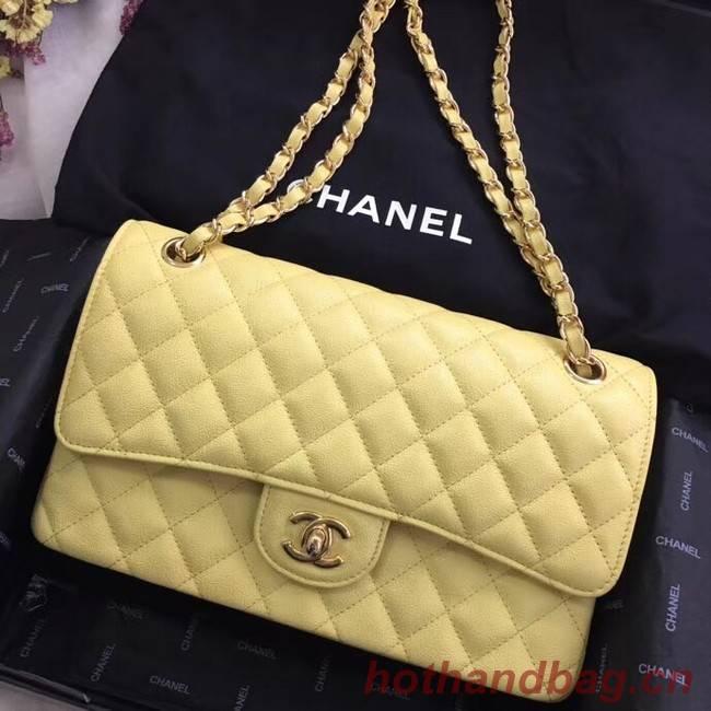Chanel Calfskin & Gold-Tone Metal A01112 yellow